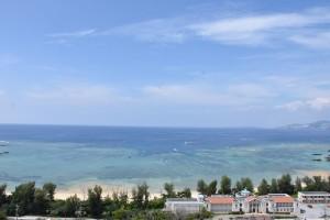 ホテルの部屋からは東シナ海が見えます
